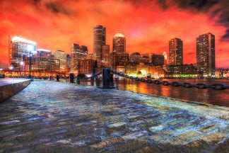Beautiful Boston Cityscape at Night 02