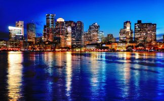 Amazing Boston Cityscape at Night 03