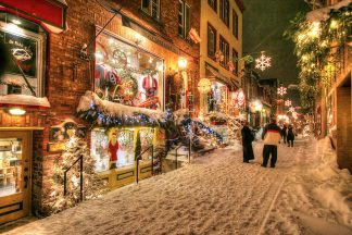 Beautiful Old Quebec City District Alley 1
