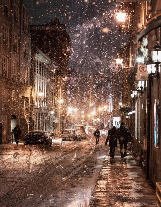 Insidious Bad Winter Weather in City Street 1