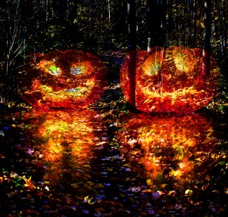 Halloween Scary Wood 3