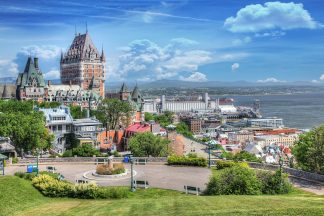 Amazing Old Quebec City District in Summer