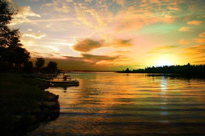 Perfect Sunset Lake